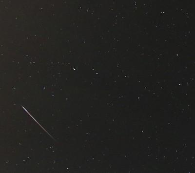 Figure 3 – At 04:12:36 a bright Leonid of magnitude -4 in Ursa Major (The Big Dipper).