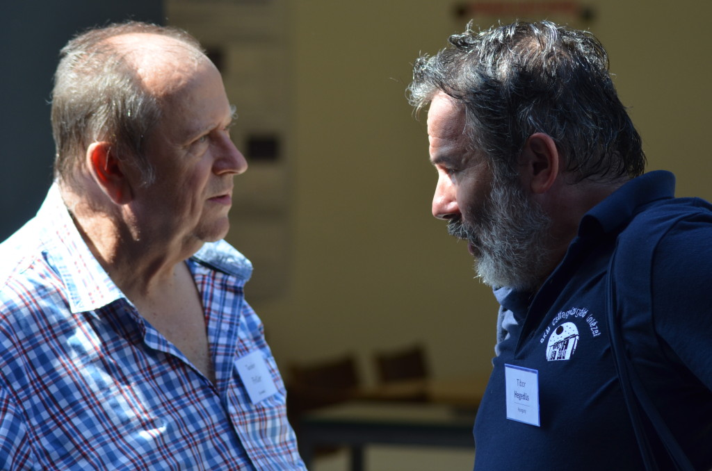 During the IMC in Mistelbach, Austria, end of August 2015, Teodor Pinter in discussion with Tibor Hegedus (credit Axel Haas).