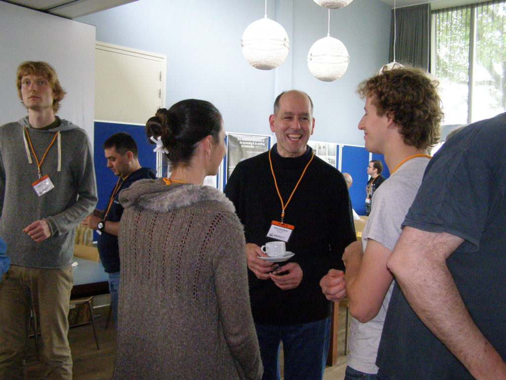 During the coffee break with Peter Jenniskens
