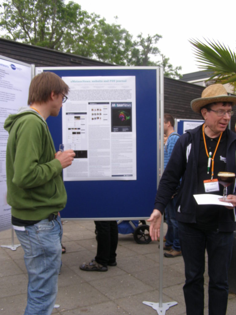 Eduard Bettonvil and the author at the poster about MeteorNews.org.