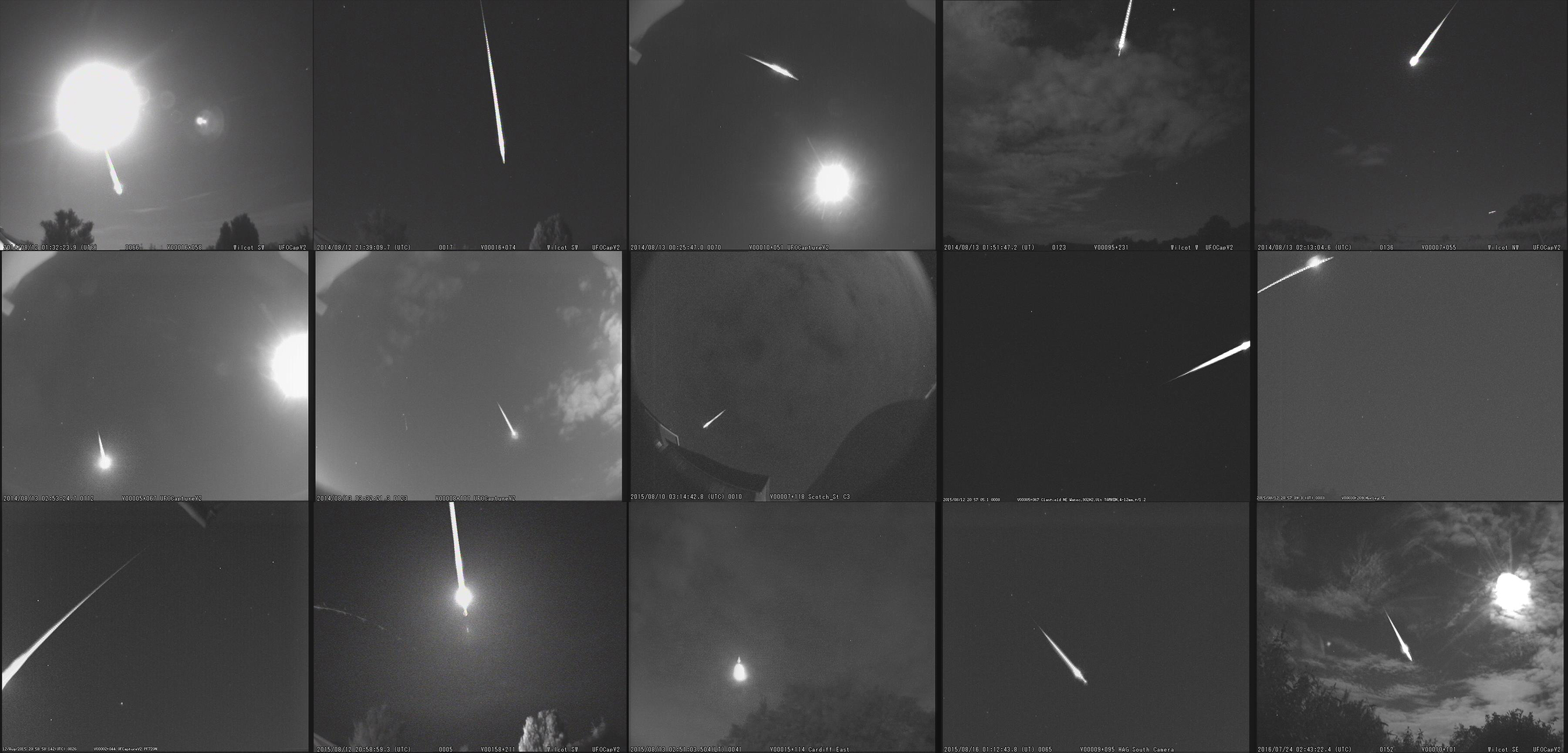 Perseid meteor shower live