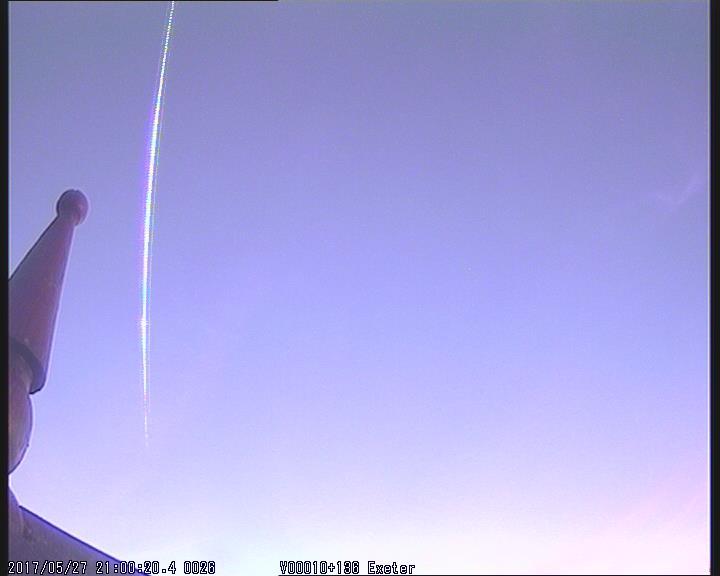 Exeter fireball from UKMON