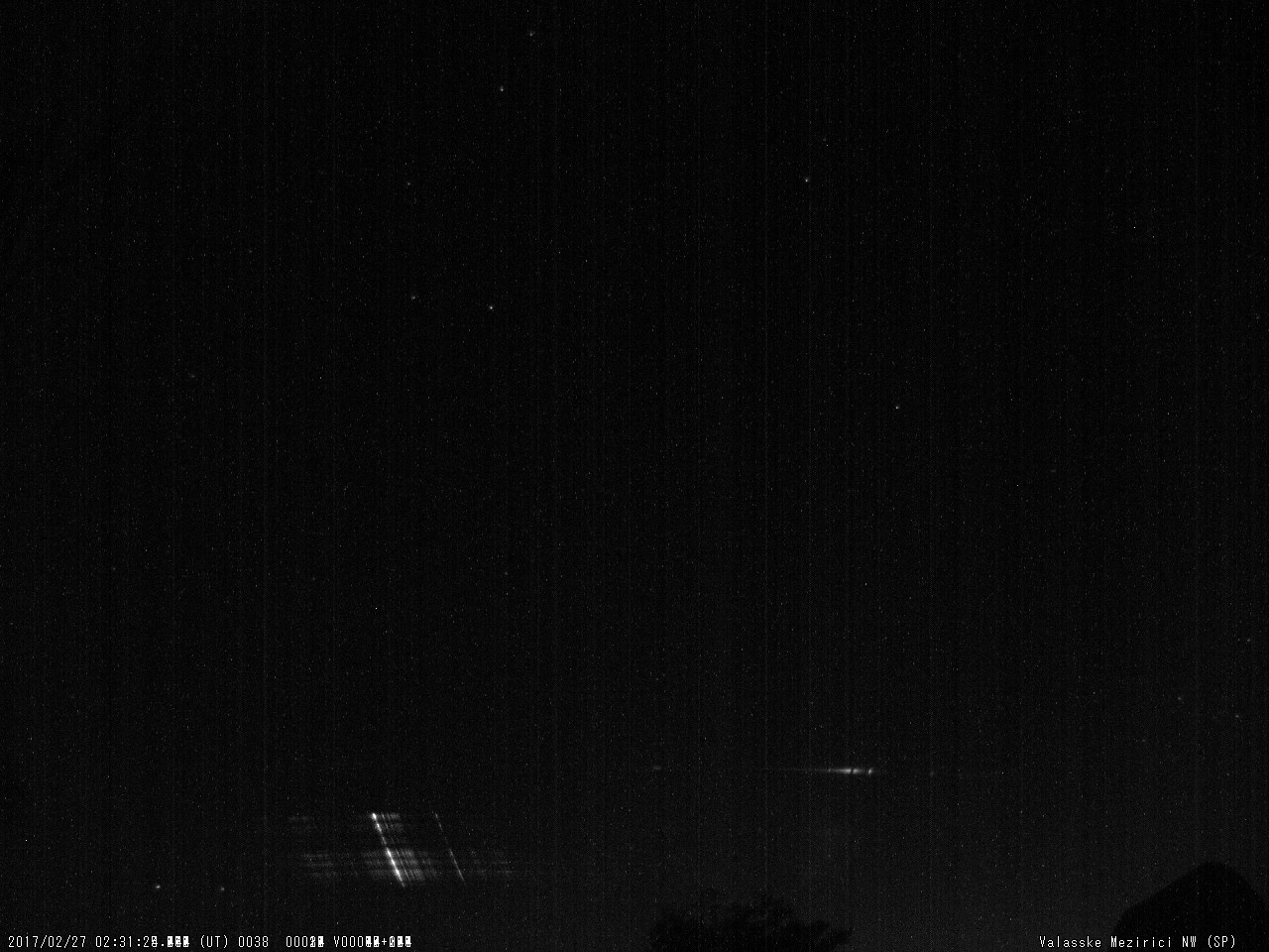 Fig. 10: Spectrum of bright meteor 20170227_023124, SPNW spectrograph. Author: Valašské Meziříčí Observatory