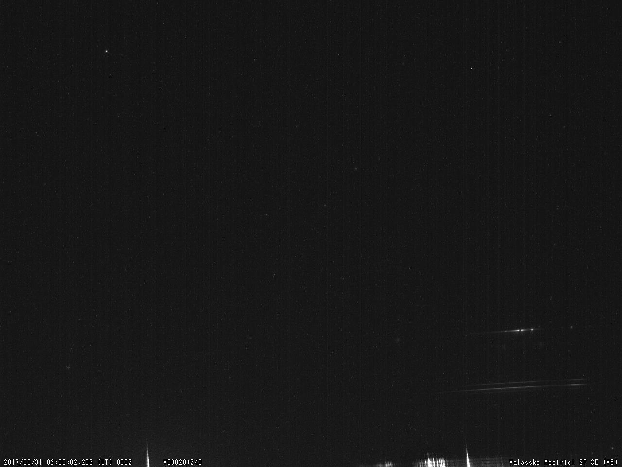 Fig. 12: Spectrum of bright meteor 20170331_023002, SPSE V5 spectrograph. Author: Valašské Meziříčí Observatory