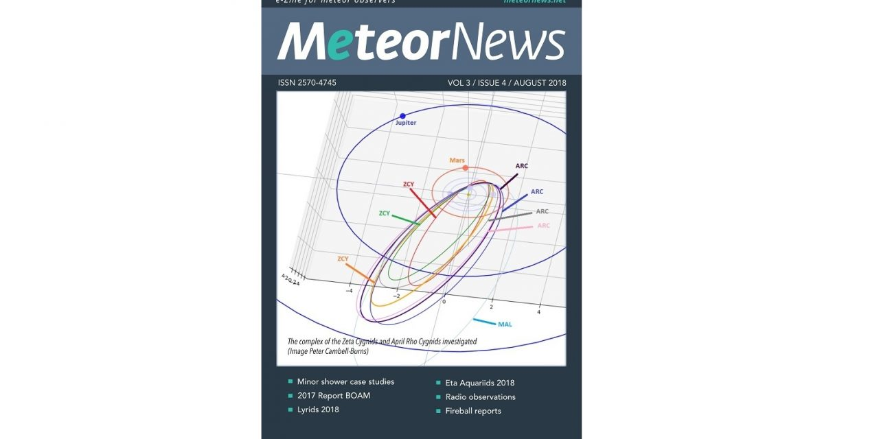August 2018 issue of eMeteorNews online!