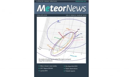 August 2018 issue of eMeteorNews online!