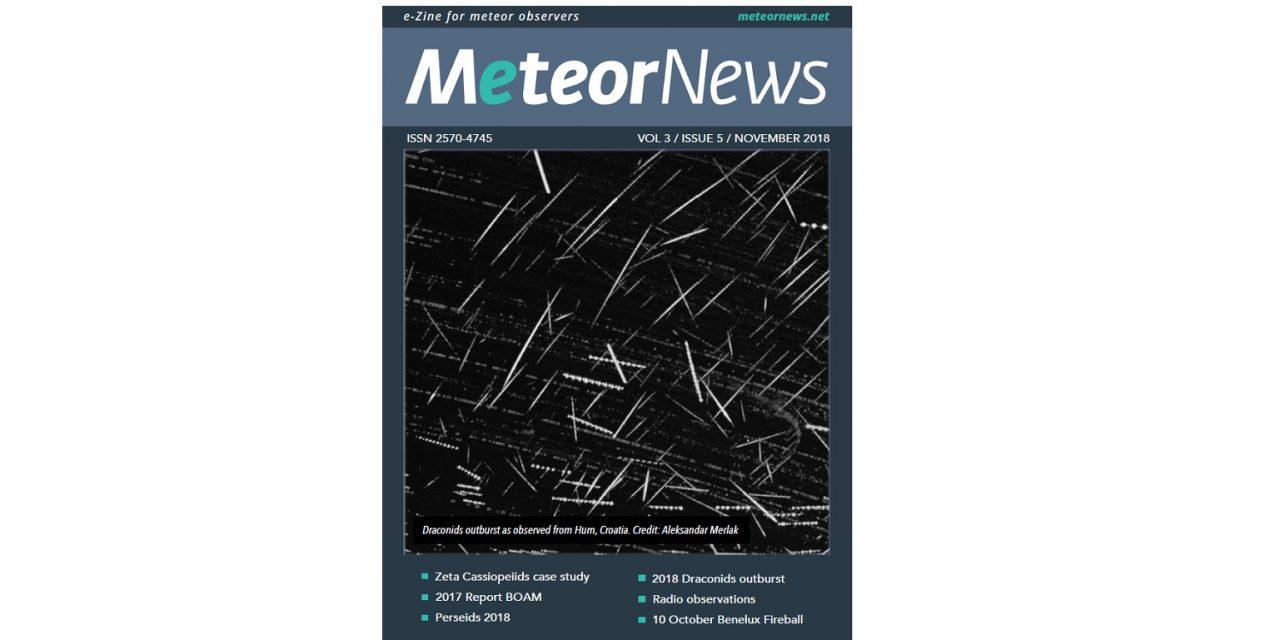 November 2018 issue of eMeteorNews online!