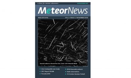 November 2018 issue of eMeteorNews online!