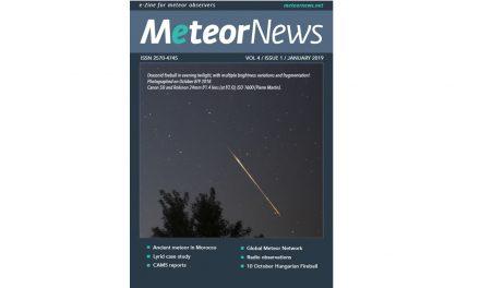 January 2019 issue of eMeteorNews online!