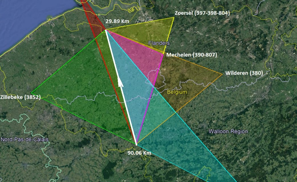Trajectory and orbit Belgian fireball 2019 February 15