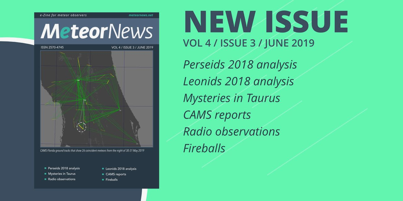 June 2019 issue of eMeteorNews online!