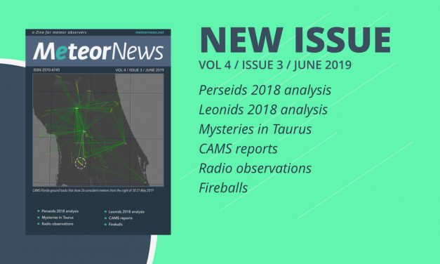 June 2019 issue of eMeteorNews online!