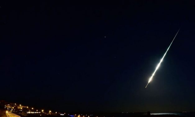 Superbolide over the Mediterranean Sea on August 16, 2019