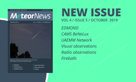 October 2019 issue of eMeteorNews online!