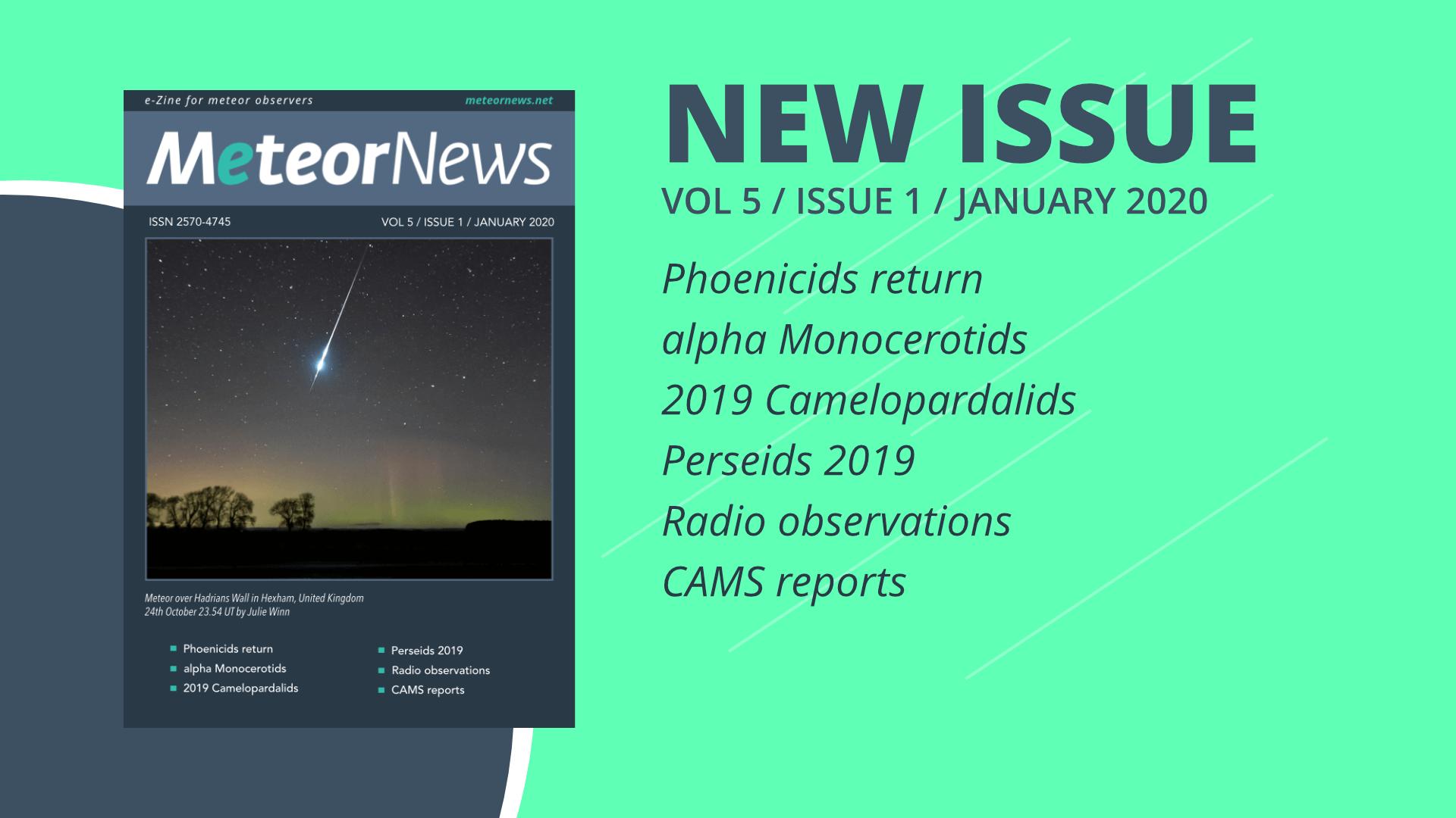 January 2020 issue of eMeteorNews online!