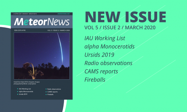 March 2020 issue of eMeteorNews online!