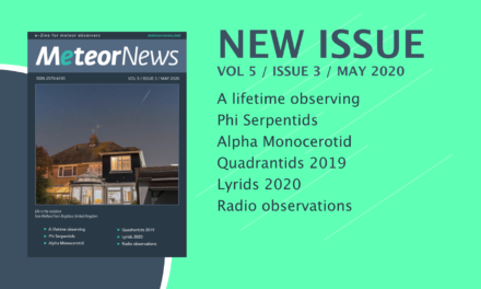 May 2020 issue of eMeteorNews online!