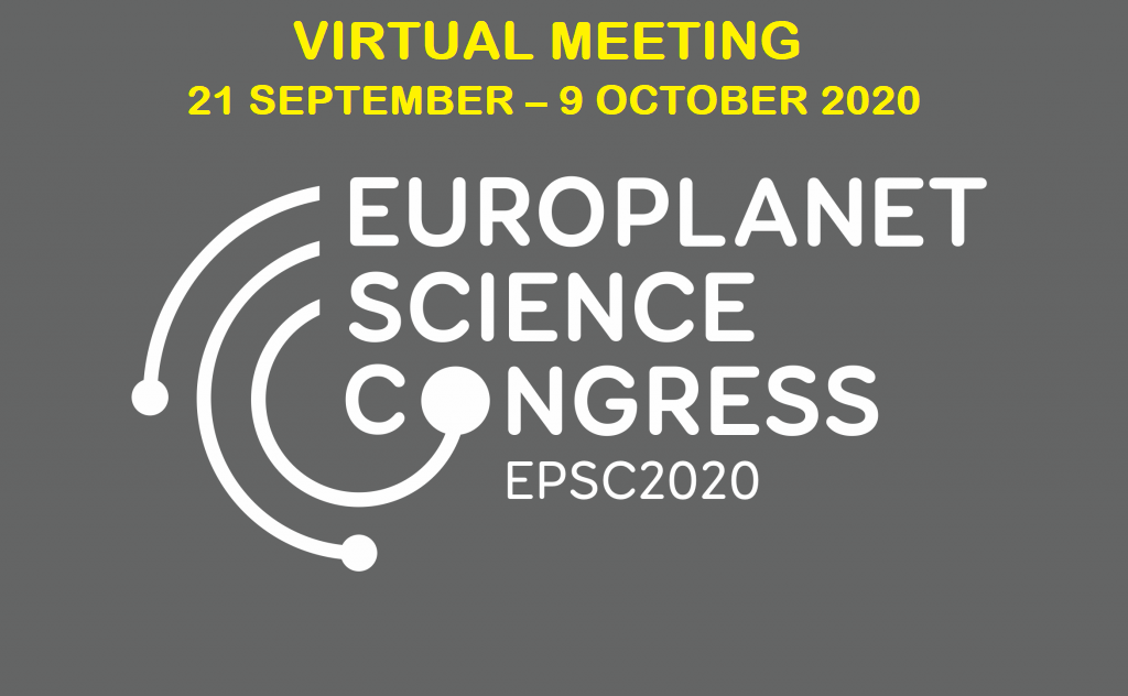 Europlanet Science Congress 2020 – Virtual meeting <br>21 September – 9 October 2020