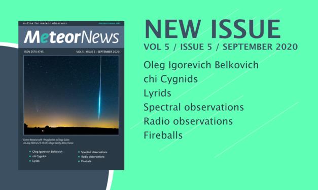 September issue of eMeteorNews online