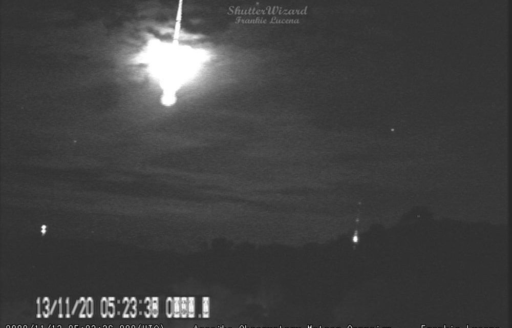 Explosive Fireball captured from Cabo Rojo, Puerto Rico by avid meteor and TLE observer Frankie Lucena