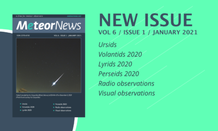 January 2021 issue of eMeteorNews online