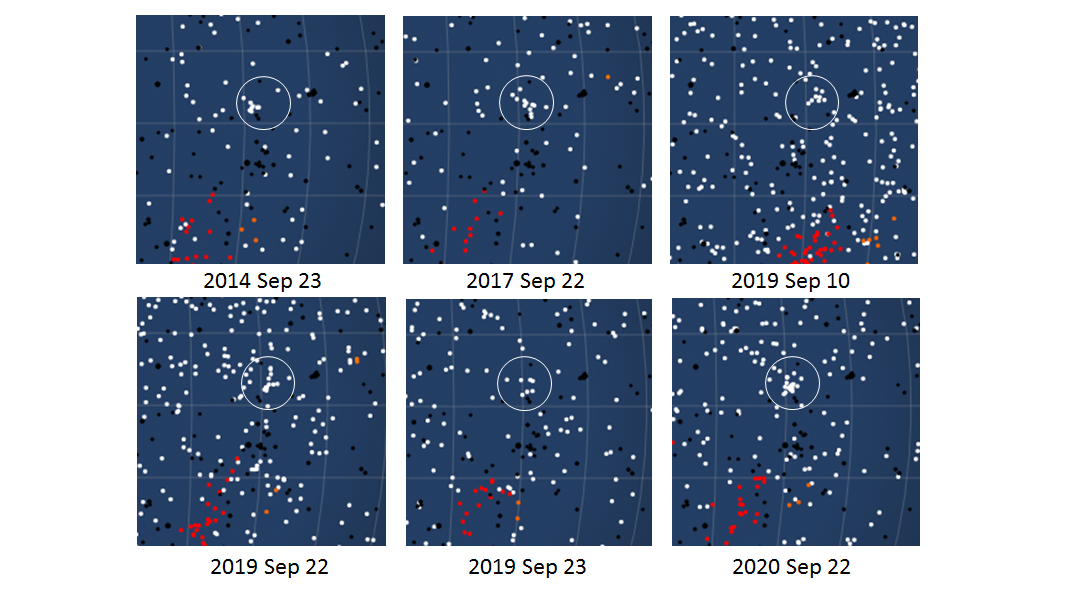 The September upsilon Taurid meteor shower and possible previous detections