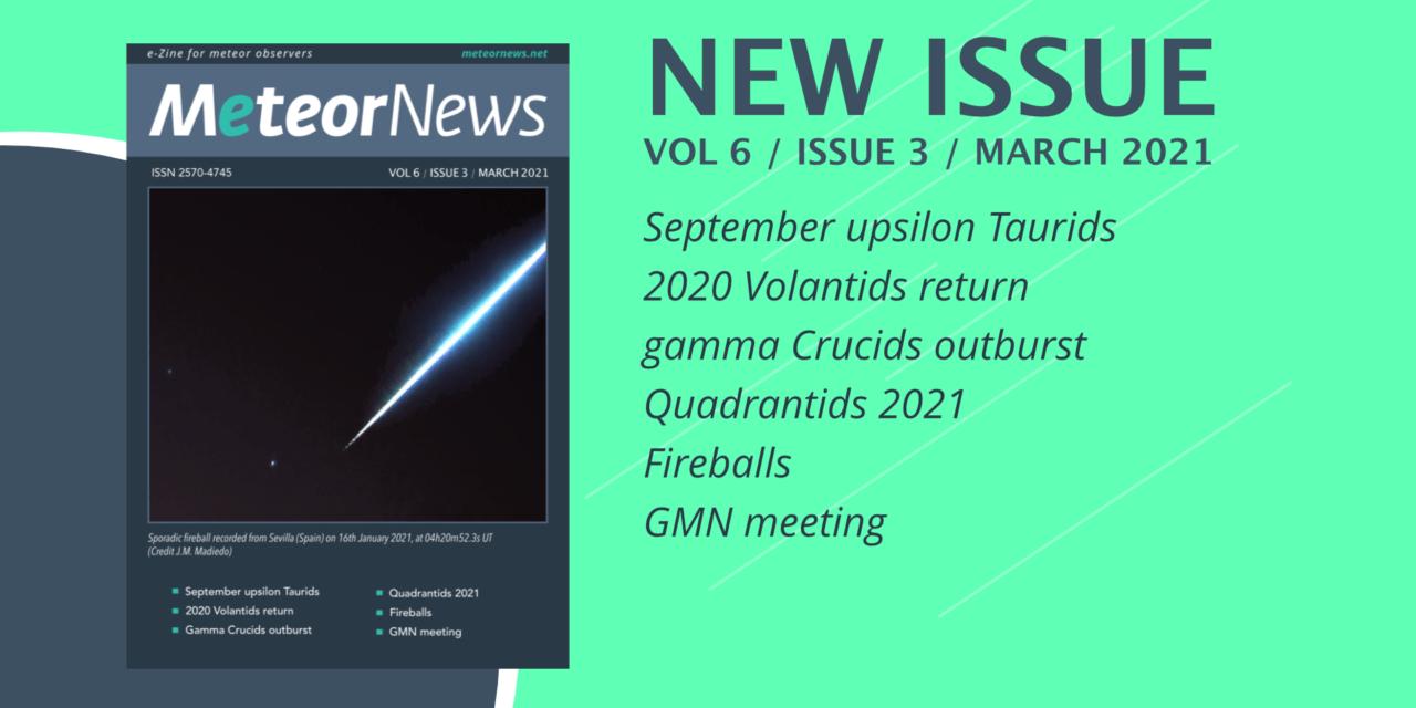March 2021  issue of eMeteorNews online