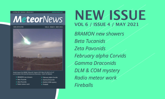 May 2021 issue of eMeteorNews online