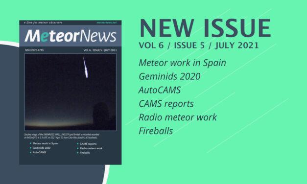 July 2021 issue of eMeteorNews online