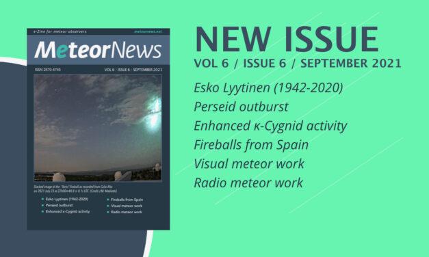 September 2021 issue of eMeteorNews online